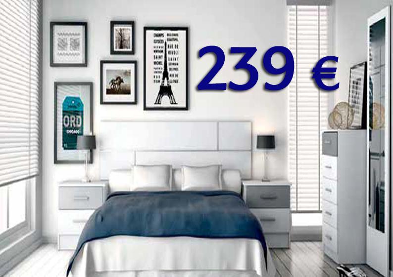 dormitorio moderno barato oferta